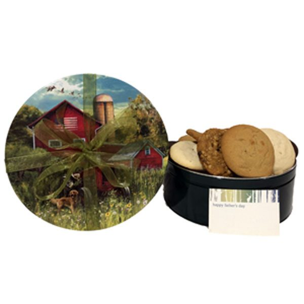 Father's Day Cookies-18 cookies (6 flavors), fill this tin adorned with a country scene