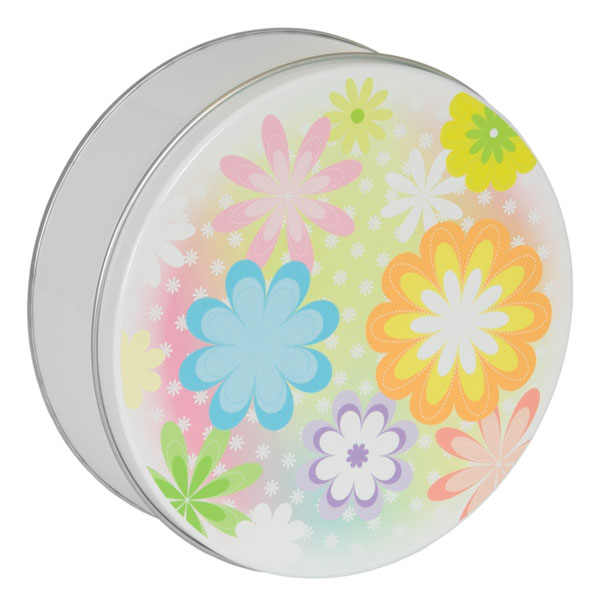 Mother's Day Cookies-18 cookies (6 flavors), fill this tin adorned with assorted flowers in bright colors.