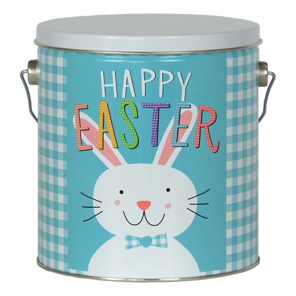 Easter Cookies-36 cookies (6 flavors), fill this tin pail with an Easter Bunny and Happy Easter message.