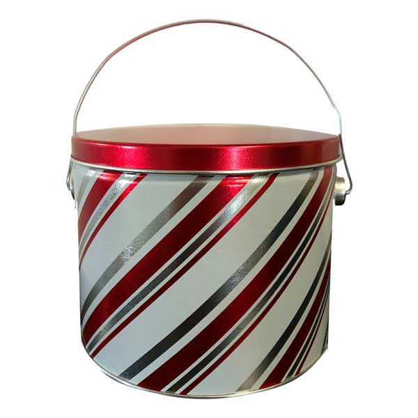 Candy Stripes Cookie Tin Filled with delicious fresh baked cookies