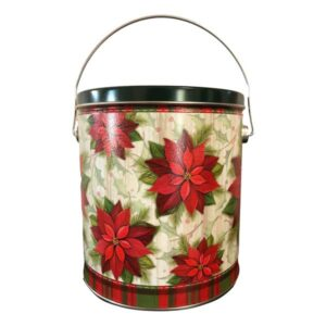 Beautiful Poinsettia In Bloom Cookie tin filled with 3 dozen fresh baked cookies