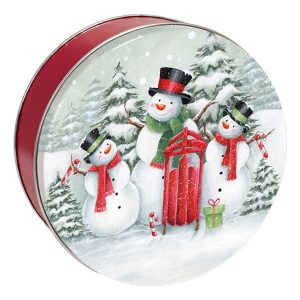 Snow Family Cookie Tin-with 2 1/2 dozen cookies