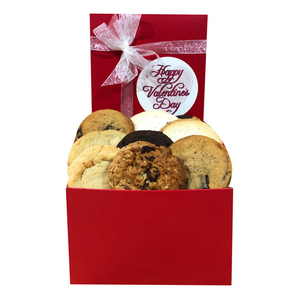 Valentine Day Cookies in a Gift Box-One and a Half Dozen